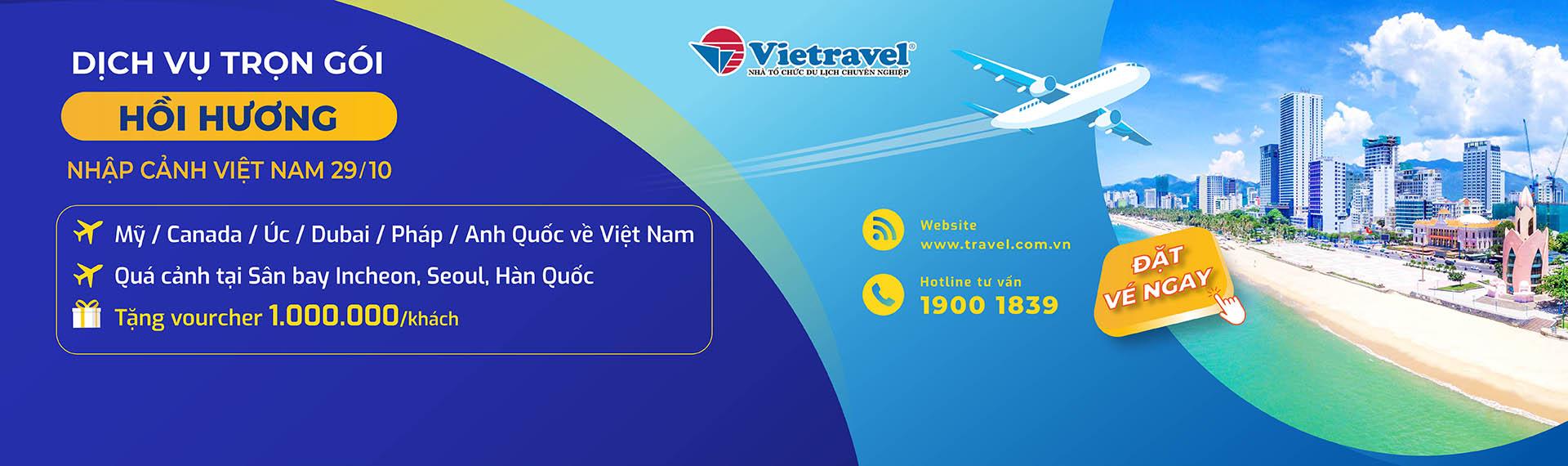 Chuyến bay thuê bao đón công dân Việt Nam hồi hương tháng 10