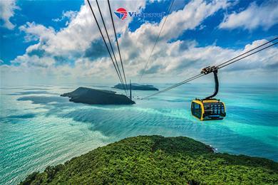 Bay cùng Vietravel Airlines: Phú Quốc - Hòn Thơm Nature Park - Trải Nghiệm Cáp Treo Vượt Biển - Thỏa Thích Vui Chơi Tại Công Viên Nước Aquatopia (Khách Sạn 4 Sao)