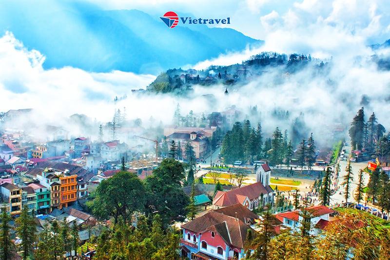 Bay cùng Vietravel Airlines: Hà Nội - Sapa - Bản Cát Cát - Fansipan (Khách sạn 4 sao)