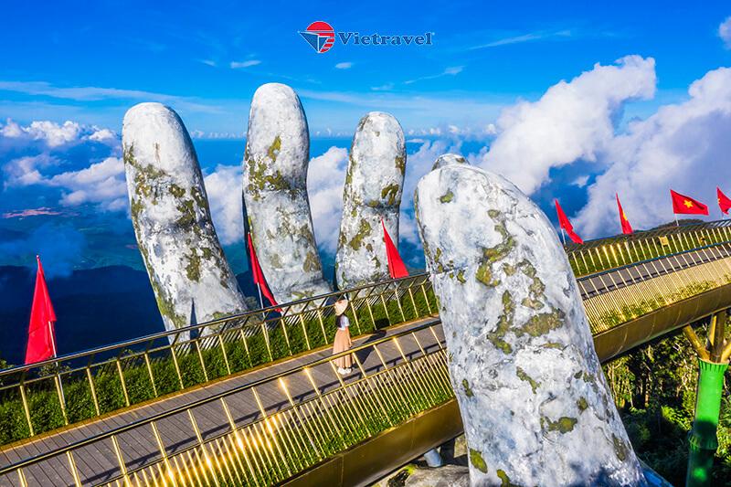 Đà Nẵng - Bà Nà - Cầu Vàng - Hội An - La Vang - Động Thiên Đường - Huế - Đà Nẵng (Khách sạn 4*. Tour Giá Sốc)