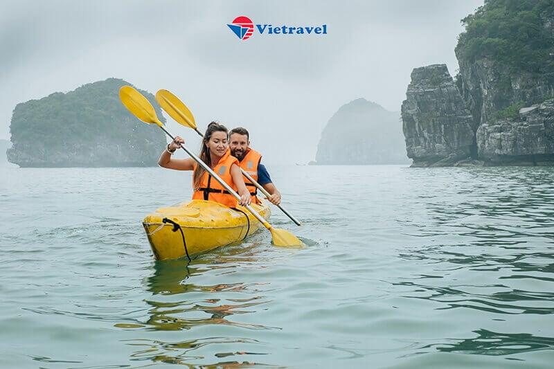 Du thuyền Stellar Of The Sea 5* - Vịnh Lan Hạ  : Đảo Tuần Châu – Khu vực Ao Ếch – Hang Sáng, Tối (Trải nghiệm câu mực đen, chèo thuyền Kayak , chơi golf)