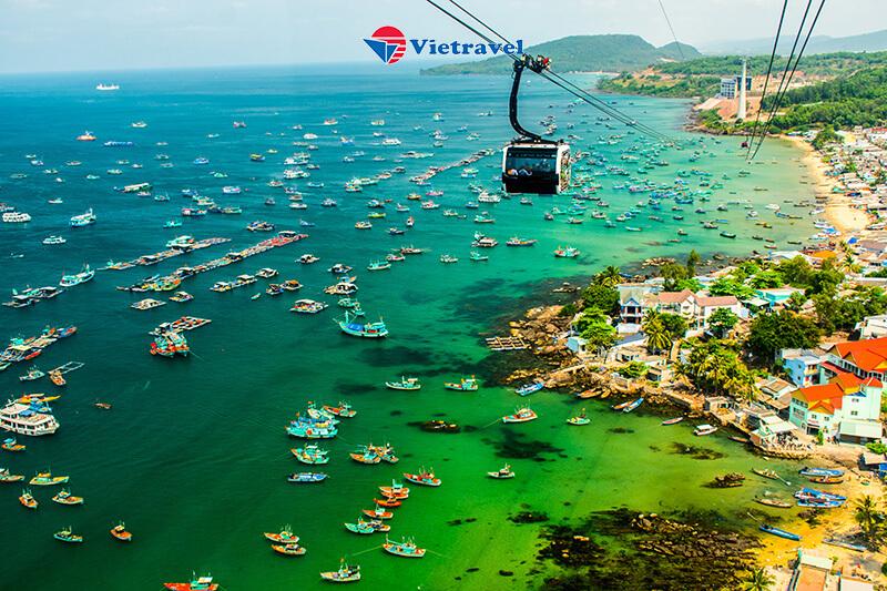 Tour Cano tham quan 5 đảo + cáp treo Hòn Thơm