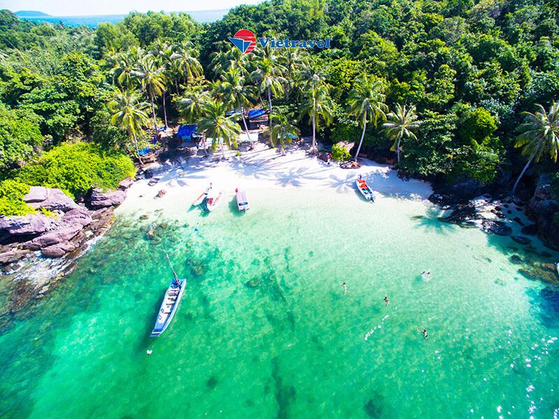 Tour Cano tham quan 4 đảo