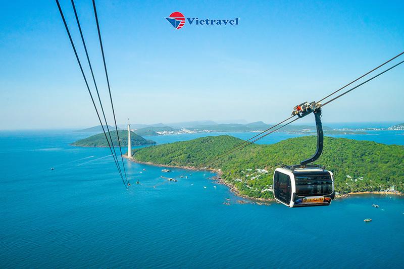 Phú Quốc - Hòn Thơm Nature Park - Trải Nghiệm Cáp Treo Vượt Biển - Thỏa Thích Vui Chơi Tại Công Viên Nước Aquatopia ( khách sạn 3 sao, giá chưa bao gồm vé máy bay)